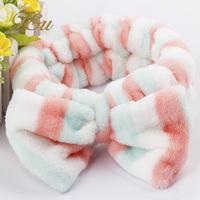 Polka Dot Classic Stirpe girls bowknot turban headband , Cotton headwrap promotion wholesale #2032