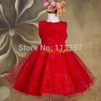 2014 summer new arrival flower princess girl dress lace rose Party Wedding Birthday girls dresses Candy princess tutu elegant