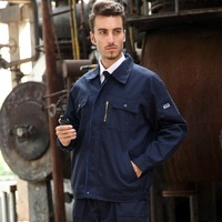 High quality Dark blue Long-sleeved Work Uniforms 2014 new winter thicken Auto repair Working clothes protective clothing Z14