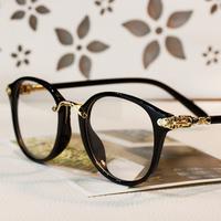 Vintage brand C Eye glasses frames men 2014 Classic Metal optical frame gold clear lens glasses oculos de grau feminino