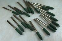 TEMO 20 pcs RUBBER rotary tools polishing burr DREMEL 4mm Bullet
