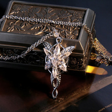 Top Selling Women Ladies Lord Of The Ring Arwen Evenstar Necklace Silver Color Pendant Star Jewelry Promotion Price
