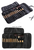 New On sale! Black 15pcs Soft Synthetic Hair make up Cosmetic tools kit Beauty Makeup Brushes Sets with Leather Case b4