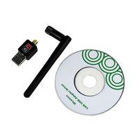 50pcs byDHL 802.11n/g/b 150Mbps Mini USB WiFi Wireless Adapter Network LAN Card w/Antenna