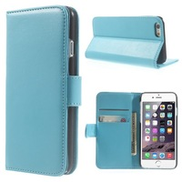 For iPhone 6 Plus Wallet Case , Glossy PU Leather Wallet Bracket Shell Case for iPhone 6 Plus 7 Colors Free Shipping