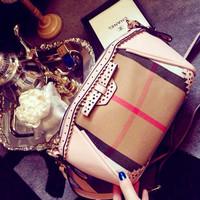 2014 plaid stripes hollow bow bag shoulder diagonal mini clutch small satchel bag woman handbag cross body bag messenger bag