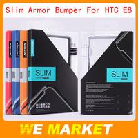 Wholesale Genuine Nillkin Slim Border Series TPU+PC Bumper For HTC ONE E8 50Pcs/lot + Free Shipping