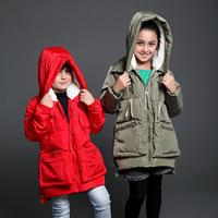 High Quality Winter Children's Outerwear Multilayer Thicken Warm Kids Military Equipment Down Girls Boys Parkas Hooded 6-13