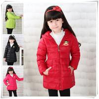 New Arrival 2014 Fashion Girls Winter Outerwear Thicken Warm Children's Down Jacket  High Quality Brand Girls Winter Coats 4-9