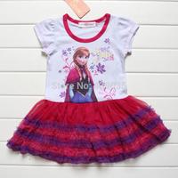 SH037 New 2014 summer girl dress Elsa dress Anna Dresses Frozen Princess Clothing Frozen Dress