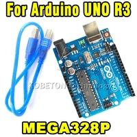 5pcs Brand NEW UNO R3 Board MEGA328P & ATMEGA16U2 Board Card for Arduino Compatible , with USB CABLE attached