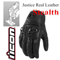 ICON Justice Glove Real Leather Motorcycle Gloves Touch Screen Moto Scooter Glove Motorcycle Protective Luvas Motocross Glove