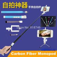 Handheld Self-Timer Camera Tripod Scalable Bluetooth Monopod for Camcorder Camera Smartphone Carbon Fiber Monopod Multi-Function