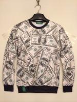 Hiphop Punk Rock Women Men 3d USD Dollar Space Sweatshirt Galaxy T shirt Top Te