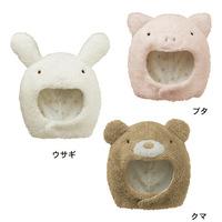 2014 fall and winter children's cute plush animal cartoon bear/banny/piggy hat infant baby cotton cap free shipping