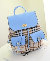 Double pocket design 2014 new fashion movement girl girls shoulders back backpack factory wholesale direct Required