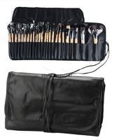 2014 New Arrival Beauty 24 Pcs Makeup cosmetic Brush Set Tools Make-up Wool Make Up Wooden Brush Set Case b4