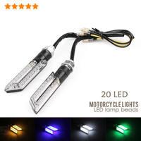 20 LED Bulbs Motorbike Motorcycle LED Turn Signal Lights Indicators Carbon 4 Color 2014 Hot Sale New