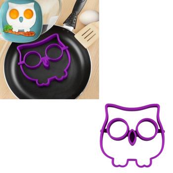 Нежный кухня силикон сова жареные яйца форма яйцо кольцо формирователь новинка весело фиолетовый цвет горячая распродажа