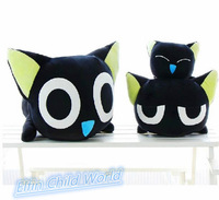 Free Shipping 1pcs 70cm New 2014 Large Plush Toys Large Black Cat Doll High Quality Stuffed Animals Birthday Presents