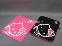 """10'' 13"""" 14"""" 15"""" Lovely Kity Shockproof Neoprene Sleeve Zipper laptop Notebook Soft Case Bag For Tablet PC"""
