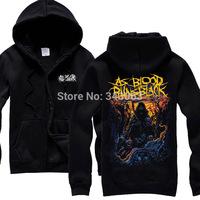 As blood runs black Hot sell hoodies high quality winter jacket hot brand casual rock shirt items punk death dark metal 03