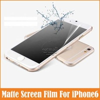 10pcs/lot Protection Film For iPhone6 4.7 inch Transparent Matte Anti Glare 3H for Apple iPhone 6 Screen Protector Accessories