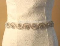 Bridal Sash, Wedding Dress Sash Belt, Rhinestone Wedding Sash, Satin Ribbon Sash