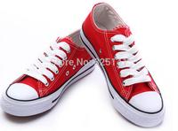 2014 Autumn Sneakers for women  Unisex Men Women Low Style Canvas Shoes Lace Casual Board Shoes size35-44