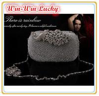Hot Style Women Bling Full Diamond Luxury Party Evening Bag. Fashion Colored Peacock Buckle Hard Case Clutch Wedding Handbag