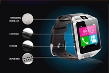 Car Bluetooth Smart Watch GV08 for Android &Apple Smart Phone Wrist Watch,Wearable Electronic Device Free Shipping