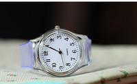 2014 Transparent  New Fashion Wristwatch Silicone Printed Flower Casual Watch For Ladies Quartz Watches Women Dress Watch XWT037