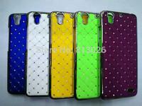 2 PCS /LOT New bling shining stars Chrome Rhinestone High quality Skin Hard Cover Case For Huawei Ascend G630