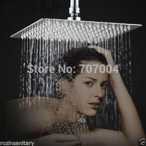 "Free Shipping Wholesale And Retainl Wall/Ceiling Mount 10"" Big Rain Shower Head Ultra-thin Bright Chrome ShowerHead(China (Mainland))"