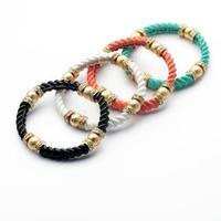 Min order $15 (Can Mix Item)  Luxurious delicacy resizable created  crystal gemstone lady bangle ,black/ green /white/ orange