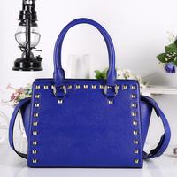Women handbag famous brand Rivet Leather Bags bat Shoulder bag Lady messenger bags bolsas femininas PL380#58