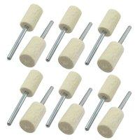 20 Pcs Buffing Polishing 3mm Shank 10mm Hard Cylindrical Felt Bobs