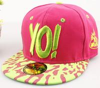 Special new YO! Alphabet summer baseball hat male hip-hop flat along a sun hat lady hat outdoors