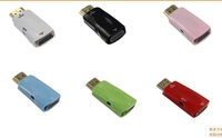 Free Shipping HDMI female to VGA Converter Adapter 1080P With Audio Cable For PC TV NEW