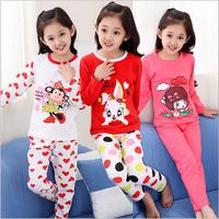 Autumn Girls Cotton Suit Children's Pajamas baby underwear long-sleeved tracksuit wholesale large child Pyjamas Kids Pajamas