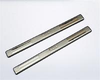 High quality Stainless steel Door sill scuff plate Guards cover trim for Fiat 500 / 500C