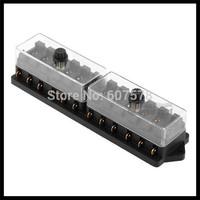 12V 12 Way Car Truck Automotive Blade Fuse Box Holder Circuit ATO ATC