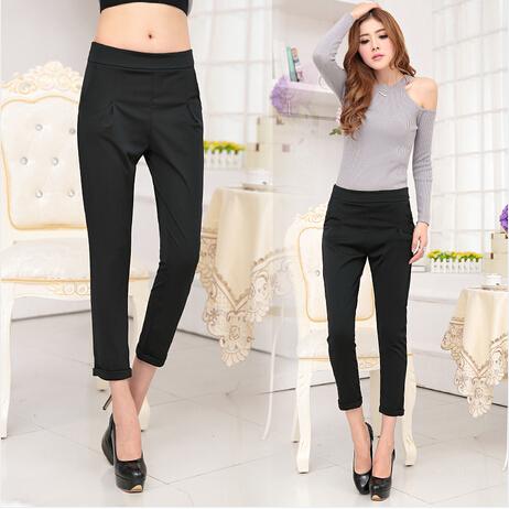 Perfect Women Pure Cotton Loose Casual Pencil Pants Elegant Formal Pants