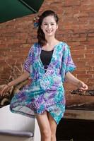 Free shipping woman brand coat ladies short summer coats colorful Chiffon coats womens chiffon coat