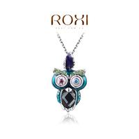 ROXI Fashion Accessories Jewelry CZ Diamond  Austria Crystal  Owl Pendant Necklace for Women