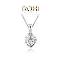 Wholesale ROXI Fashion Accessories Jewelry CZ Diamond  Austria Crystal Heart Pendant Necklace for Women