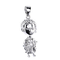GND0818 Fashion Classic Japan Anime Monkey D Luffy for One Piece Fans 925 Sterling Silver Pendant Action Figure Free Shipping