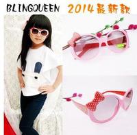 Fashion Cartoon Children Boys Girls Dot Bowknow Sunglasses Kids Playing Eyewear wholesale