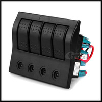 10set/lot Waterproof Boat Rocker Switch Panel LED Indicator Circuit Breaker