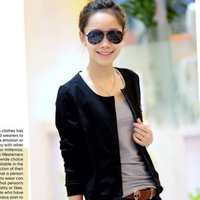 New Spring Autumn all-match long sleeved short coat   single breasted hoodies jacket  Outerwear CL086